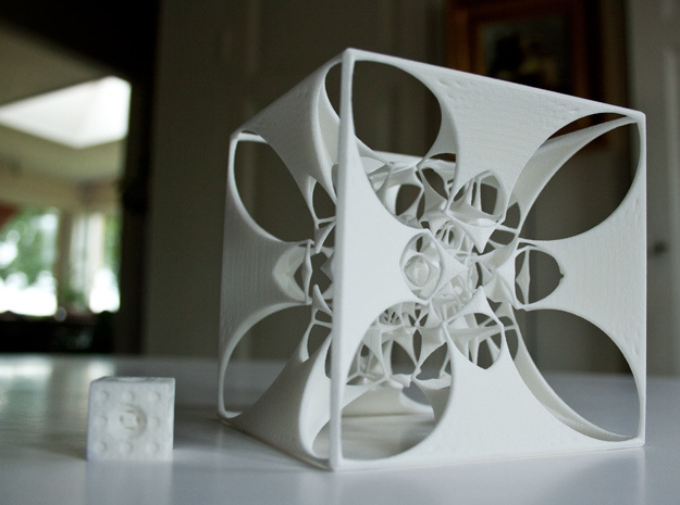 the Divine Sailor (imploding to infinitesimality) 3d printed Disturbance on the coffee table