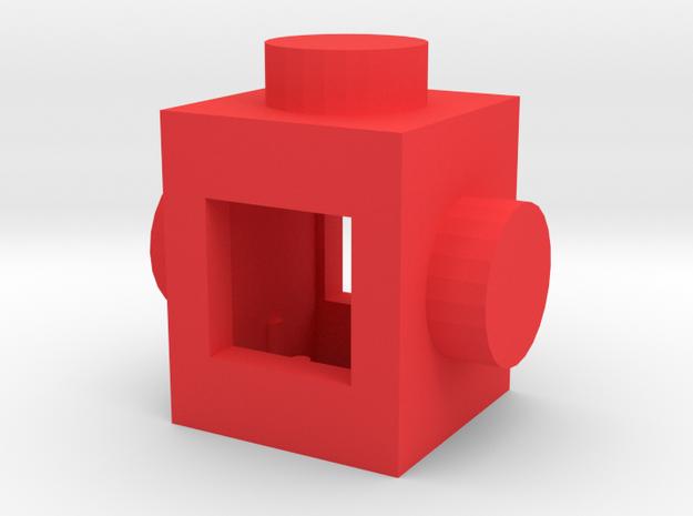 Custom LEGO-inspired brick 1x1 in Red Processed Versatile Plastic
