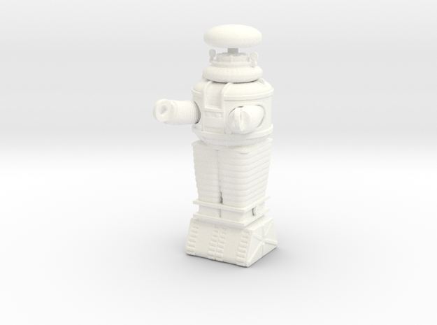 Lost in Space Robot - 2.25 inches tall - Moebius in White Processed Versatile Plastic