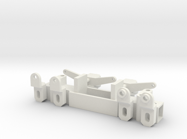 Front axle for chassis 60mm, scale 1:15 in White Natural Versatile Plastic