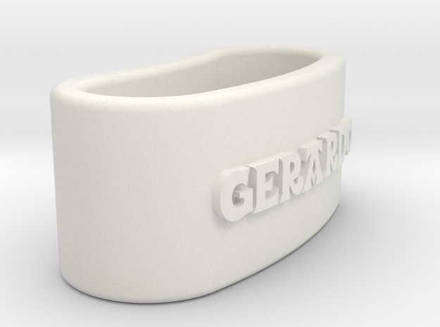 GERARDO napkin ring with daisy in White Natural Versatile Plastic