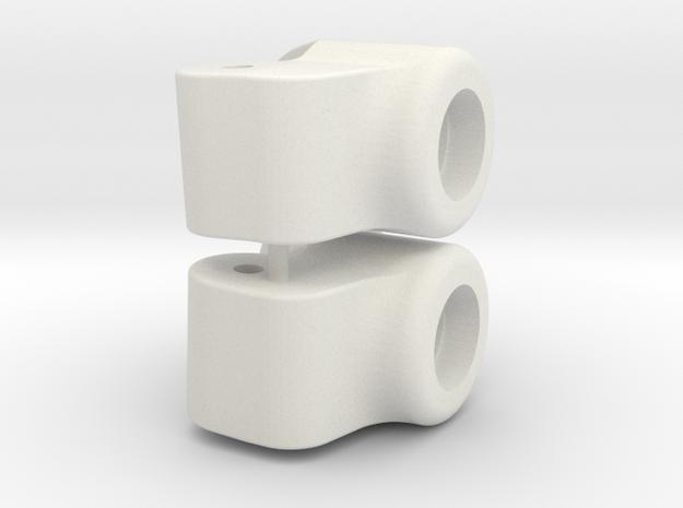 Tamiya DT02/3 Rear Upright 3 Deg Toe In in White Natural Versatile Plastic