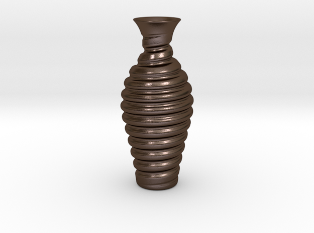 Vase-12 in Polished Bronze Steel