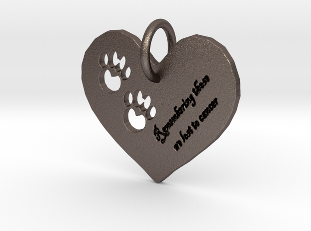 K9 cancer keychain in Polished Bronzed-Silver Steel