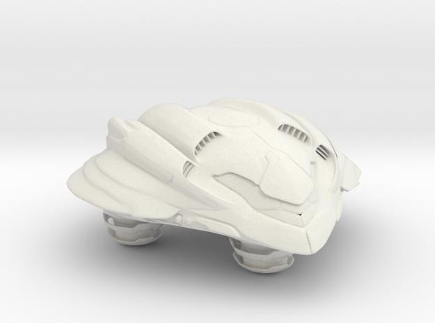 Gunship in White Natural Versatile Plastic