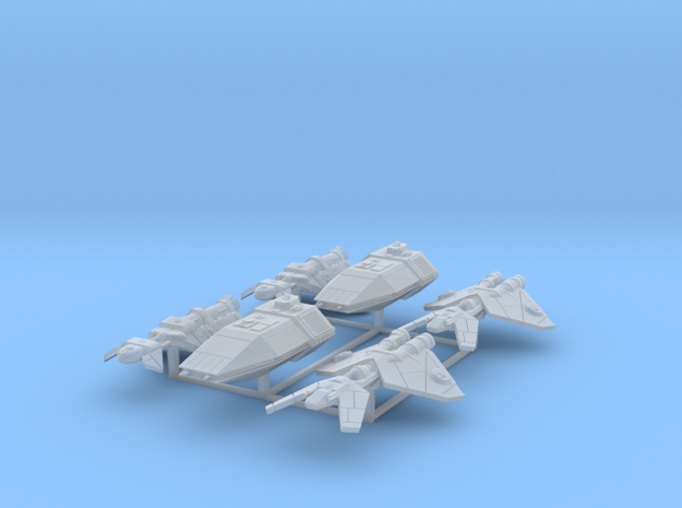 Patrol Ships 6 pack in Smooth Fine Detail Plastic