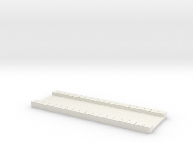 N Atlas Viaduct Long Trackbed in White Natural Versatile Plastic