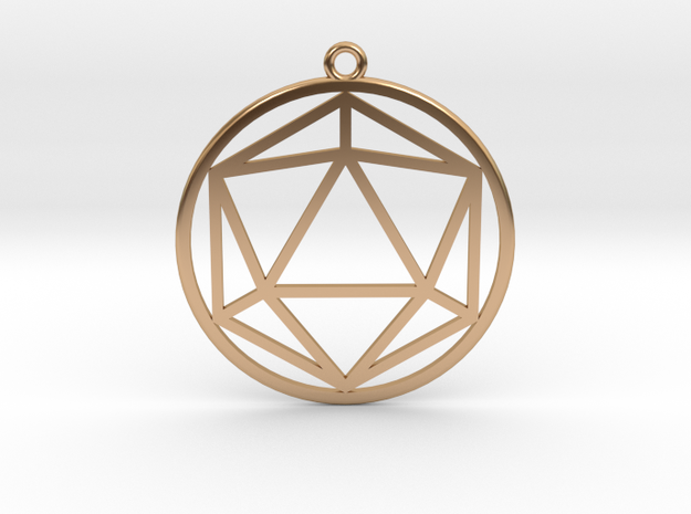 Icosahedron in Polished Bronze