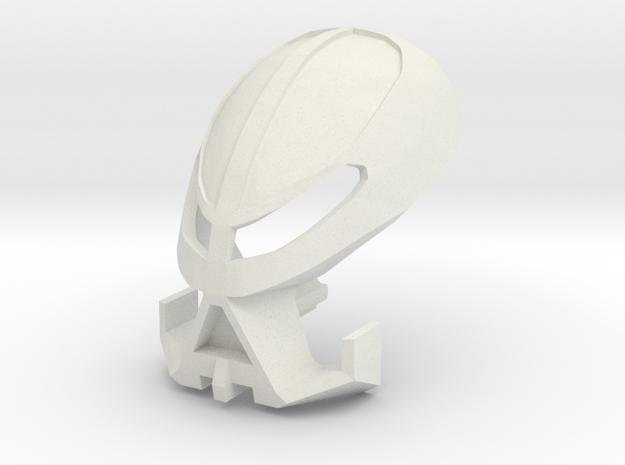 Kanohi Onweku - Mask of Intangibility in White Natural Versatile Plastic