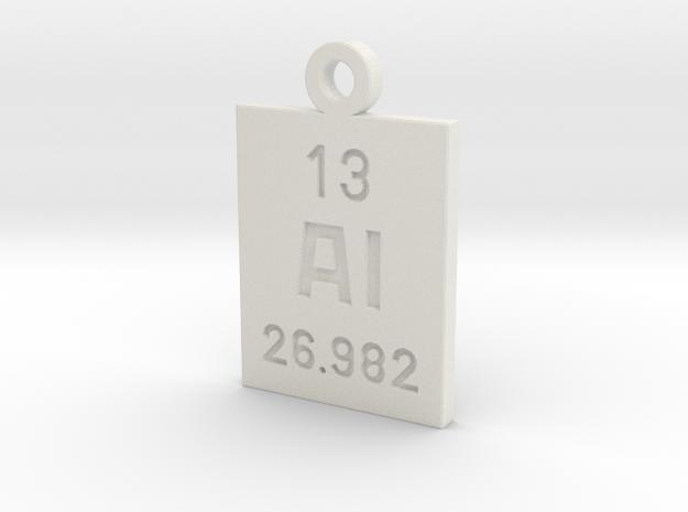 Al Periodic Pendant in White Natural Versatile Plastic