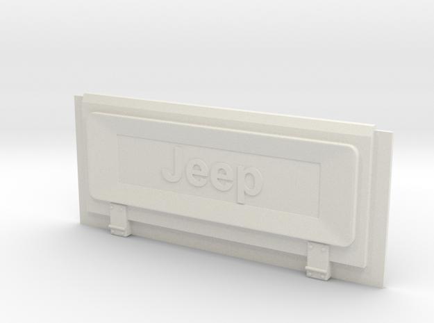 Tamiya Jeep YJ to CJ Tailgate Conversion in White Natural Versatile Plastic
