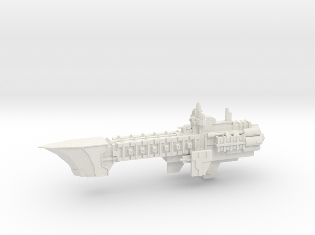 Navy Light Frigate - Concept 1 in White Natural Versatile Plastic