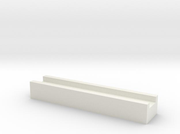 Aqueduct Channel in White Natural Versatile Plastic