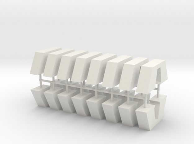 Aqueduct Pillar Pack in White Natural Versatile Plastic
