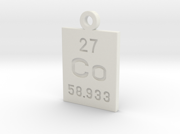 Co Periodic Pendant in White Natural Versatile Plastic