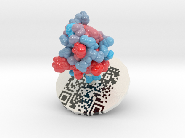 ProteinScope-9INS-A4B9C209 in Glossy Full Color Sandstone