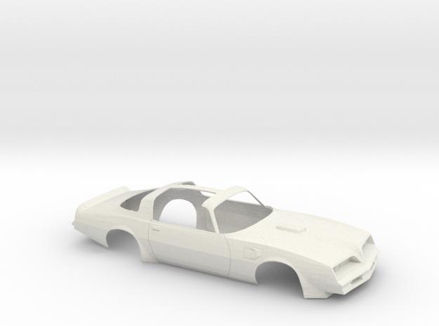 1/12 1977 Pontiac Firebird Trans Am T-Top Shell in White Natural Versatile Plastic