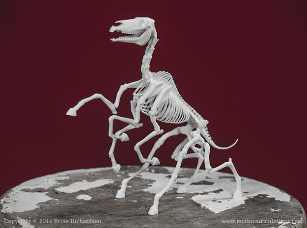 Sleipnir Skeleton in White Natural Versatile Plastic