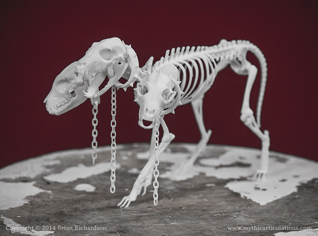 Cerberus Skeleton in White Strong & Flexible