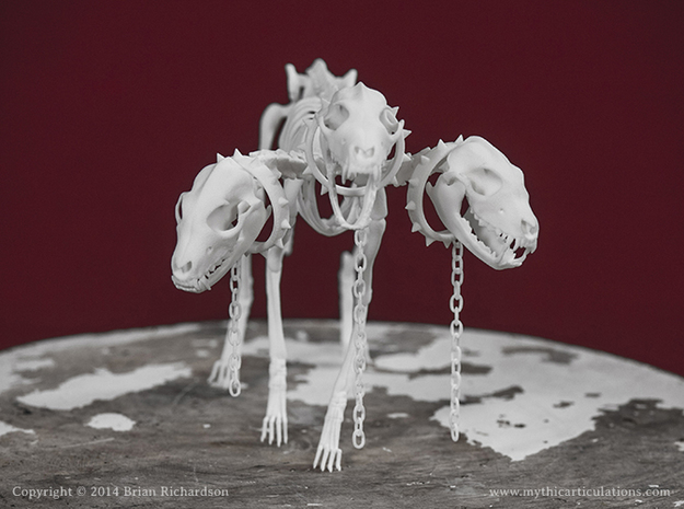 Cerberus Skeleton 3d printed