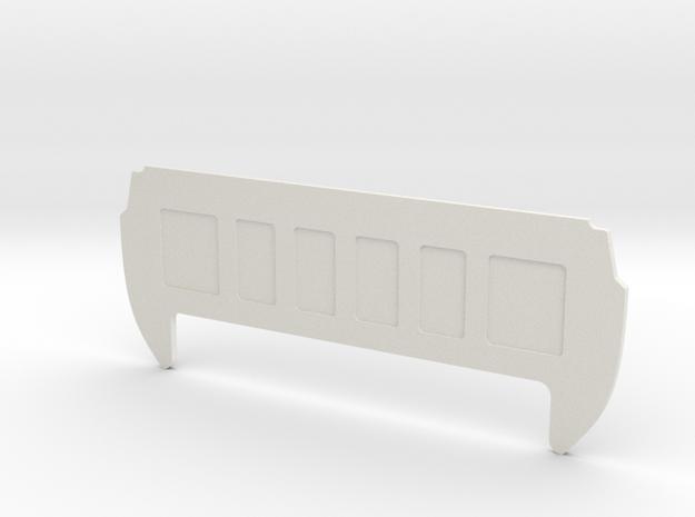 Rear Cab Panel for RC4WD K5 Blazer Body in White Natural Versatile Plastic