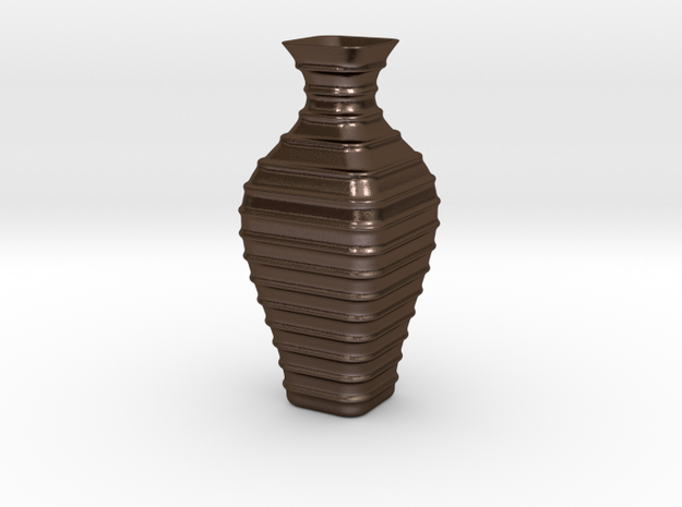 Vase-19 in Polished Bronze Steel