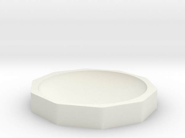 Hemp Bowl 125mm in White Natural Versatile Plastic