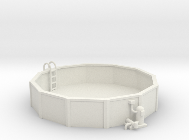 15 Ft. Pool With Ladder & Pool Pump 1-64 Scale in White Natural Versatile Plastic