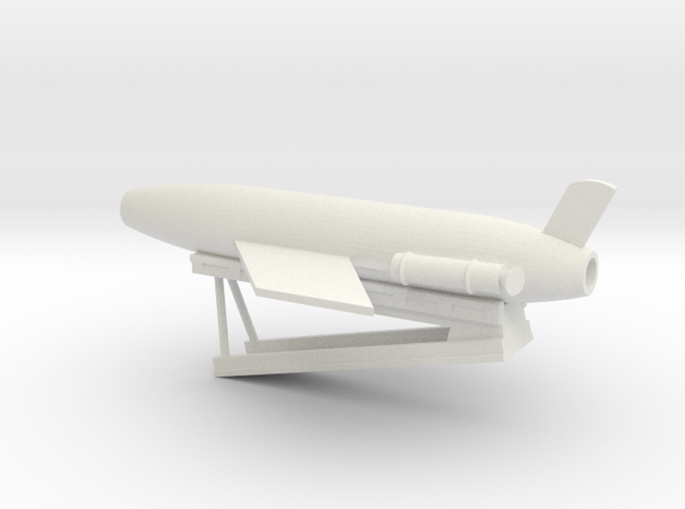 1/96 Scale Cruiser Regulus Launcher with Missile in White Natural Versatile Plastic