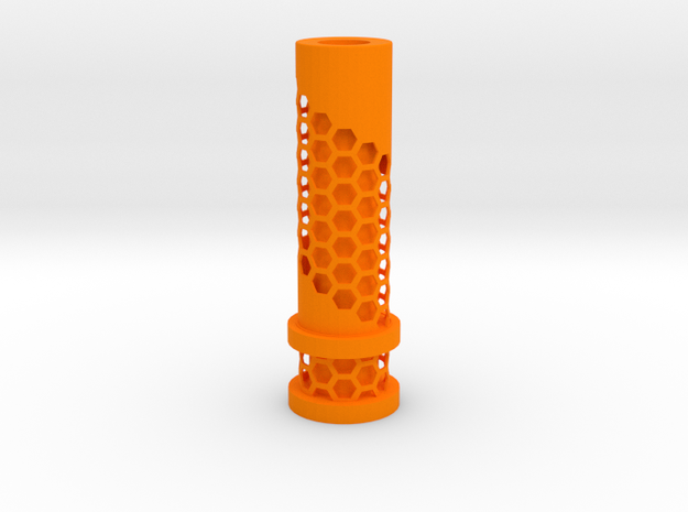 510 Tip Hexagonal Cut out in Orange Processed Versatile Plastic