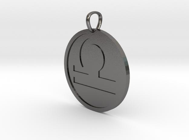 Libra Medallion in Polished Nickel Steel