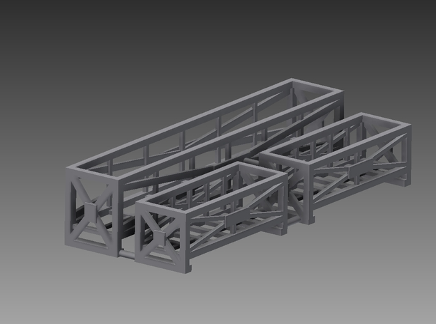 Rack set 1/48 in Smooth Fine Detail Plastic