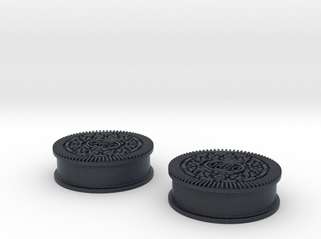 Oreo Cookie earring plugs in Black PA12