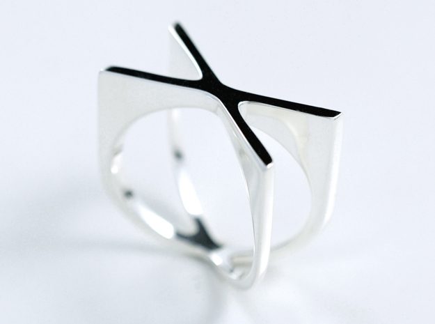 CROSSROADS (Mens) in Fine Detail Polished Silver: 10 / 61.5