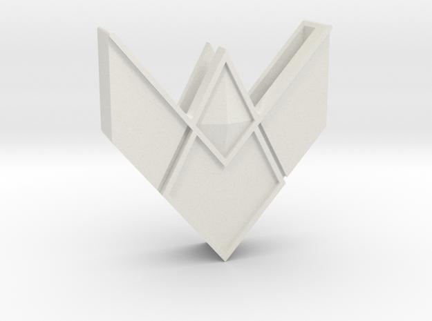 Wonder Woman Harness part - End part in White Natural Versatile Plastic