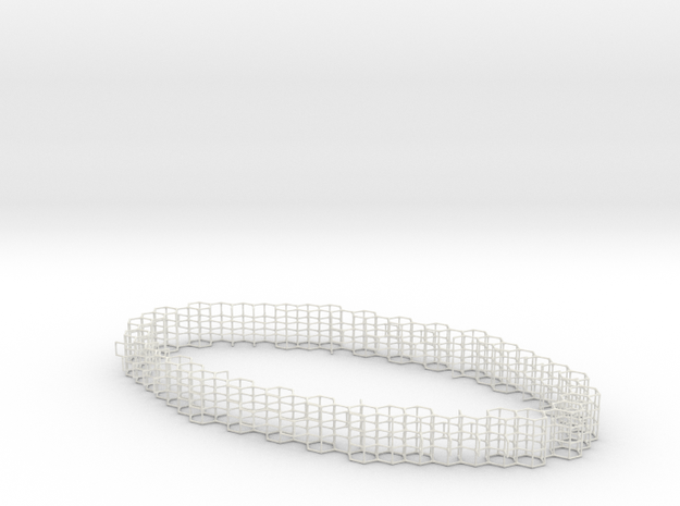 Elliptical Torus in White Natural Versatile Plastic