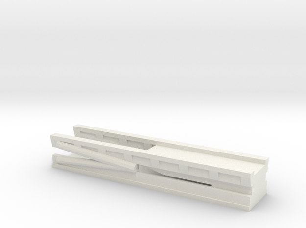 1/96 Scale Cruiser Regulus Launcher Lowered in White Natural Versatile Plastic