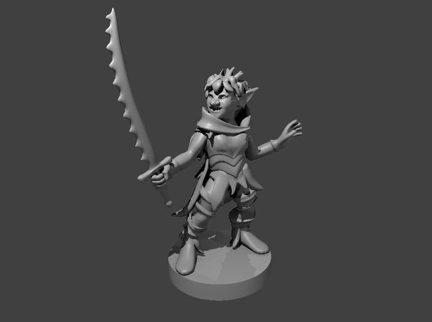 Goblin Female Warlock of Nature in Smooth Fine Detail Plastic