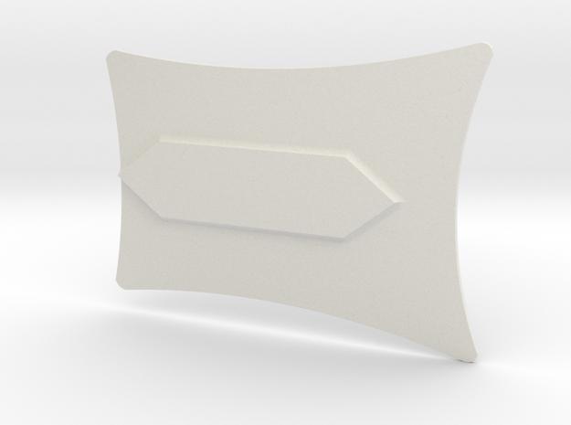 Mando'a Beskargam Reknikare - Sternum Plate in White Natural Versatile Plastic