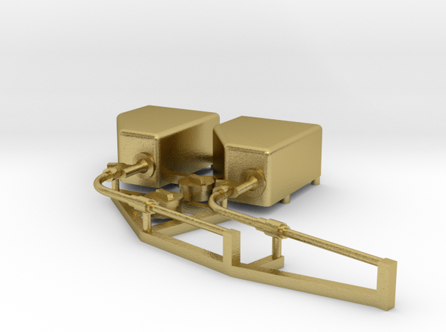 HSM 700 2 zandstrooiers rechts  in Natural Brass
