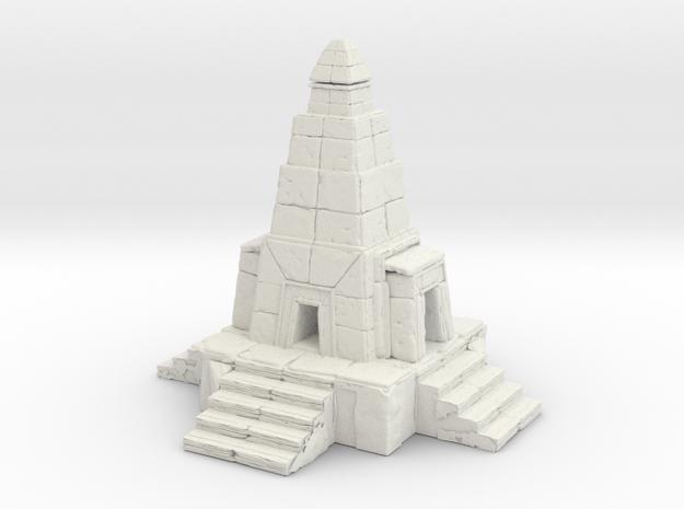 Temple in White Natural Versatile Plastic: 6mm