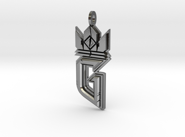 Witcher Gwent Logo in Polished Silver