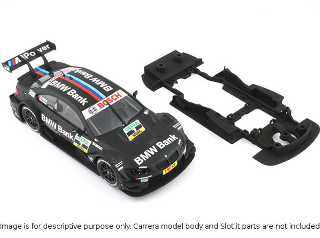 S02-ST3 Chassis for Carrera BMW M3 DTM SSD/LMP in White Processed Versatile Plastic