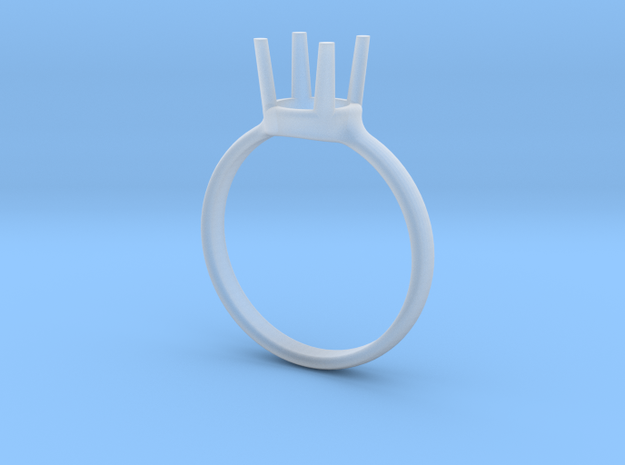 diamond ring size 7.5 in Smoothest Fine Detail Plastic