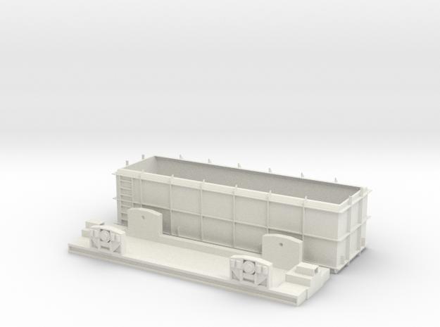 OO Gauge SSA Scrap Wagon in White Natural Versatile Plastic