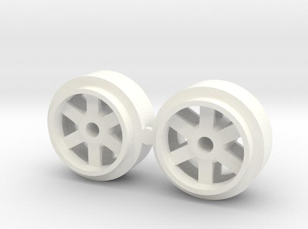 2 X Llanta 16.5 Slot 1 32 in White Processed Versatile Plastic