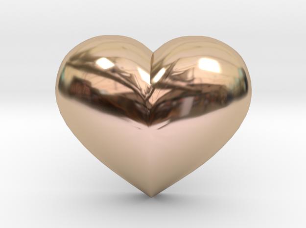 Puffed Heart Earring in 14k Rose Gold Plated Brass