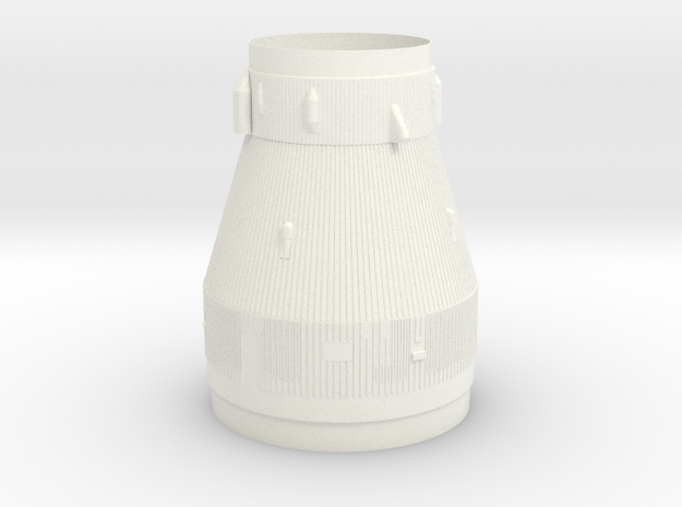 1:100 Scale Saturn V transition in White Processed Versatile Plastic
