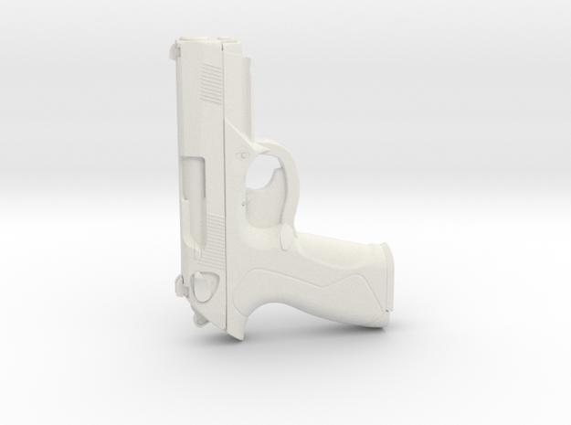 1:3 Miniature Beretta PX4 Storm Gun in White Natural Versatile Plastic