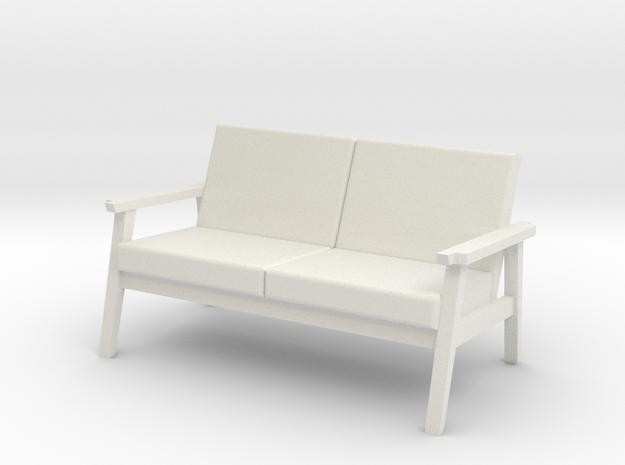 Beacon Sofa in White Natural Versatile Plastic
